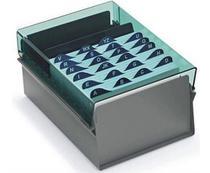 Fichario Acrimet de mesa 921.1 para ficha 3x5 com indice de az cor fume -