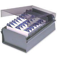 Fichario de mesa c/ base de aco 3x5 fume unidade - Acrimet