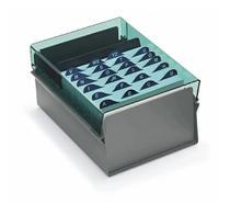 Fichario de mesa c/ base de aco 4x6 fume unidade - Acrimet