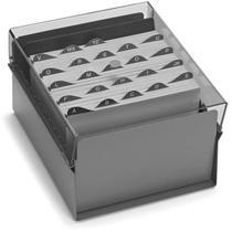 Fichario de mesa c/ base de aco 5x8 fume unidade - Acrimet