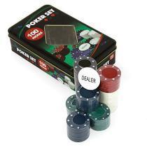 Fichas De Poker Set 100 Fichas No Estojo De Lata Onyx -