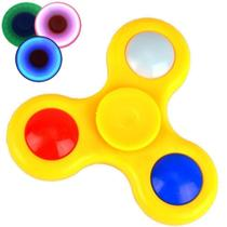 Fidget Hand Spinner Anti Stress com LED AMARELO CBRN03853 - Adventure Brasil