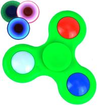 Fidget Hand Spinner Anti Stress com LED VERDE CBRN03860 - Adventure Brasil
