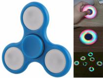 Fidget Hand Spinner C/ Led Finger Anti Stress Led Acrílico Colorido Pião De Dedo - Playshop eletronicos