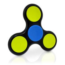 Fidget Hands Spinners Preto e Amarelo Rolamento Anti Estress  Splash
