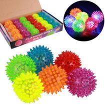 Fidget Toys Bola Neon De Luz Com Som Cores Sortidas Kit Com 2 - Nfranca