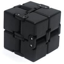 Fidget Toys - Cubo Infinito / Infinity Cube Brinquedo Anti Stress - Sensorial - Preto -