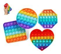 Fidget Toys Hand Spinner Anti Stress Pop It Bolha Colorido - Art Sete