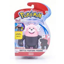 Figura Articulada - 11 Cm - Pokémon - Battle Feature Figure - Bewear - DTC -