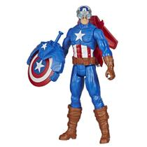 Figura Articulada - 30 Cm - Titan Heroes - Disney - Marvel - Avengers - Capitão América - Blast Gear - Hasbro -