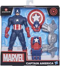 Figura Articulada Capitão América com Gear Marvel Hasbro -