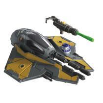 Figura Articulada e Veículo - Disney - Star Wars - Mission Fleet Stellar - Jedi StarFighter - Hasbro -