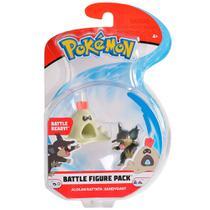 Figura Articulada - Pokémon - 7 Cm - Battle Figure - Rattata De Alola e Sandygast - DTC -