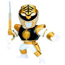 Figura Colecionável 10 Cm - Metals - Mighty Morphin - Power Rangers - White Ranger - DTC -