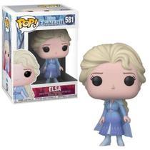 Figura Colecionável - Funko POP - Disney - Frozen 2 - Elsa Vestido Azul - Funko -