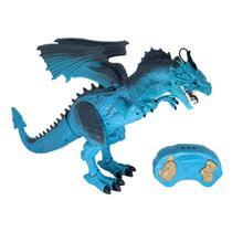 Figura Eletrônica - Lendários - Dragão Azul - Dragão de Controle Remoto - Candide -