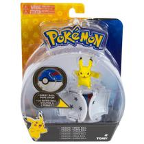Figura Pokemon Pops Open Pikachu e Pokebola Tomy Sunny 1962 -