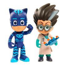 Figuras Articuladas com Luzes PJ Masks Menino Gato e Romeo 4384 DTC -