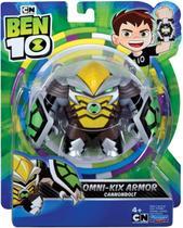 Figuras De Ação Ben 10 - Boneco Armadura Omni - kix  Bala de Canhao- Original Sunny - Playmates Toys