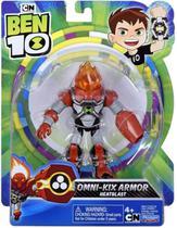 Figuras De Ação Ben 10 - Boneco Armadura Omni - Kix Chama - Original Sunny - Playmates Toys