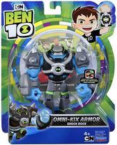 Figuras De Ação Ben 10 - Boneco Armadura Omni - kix Choque Rochoso - Original Sunny - Playmates Toys