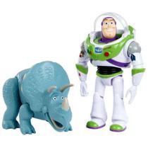 Figuras Disney Pixar - Toy Story 4 - Buzz Lightyear e Trixie - Mattel UNICA -