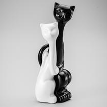 Figurino de Gatos Amorosos Black and White - Prestige