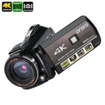 Filmadora Digital Ordro HDR-AC3 UHD 4K Wi-Fi V. Noturna 30x Zoom 24MP Touch Screen Selfie Det Rosto Controle Remoto Anti Vibração APP (BTO) -