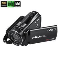 Filmadora Digital Ordro HDV-V7 PLUS Full-HD 1080p 24MP 16X Zoom Visão Noturna Anti Vibração Selfie Detecção de Rosto Controle Remoto (BTO) -