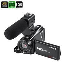 Filmadora Digital Ordro HDV-V7 PLUS V. Noturna Com Microfone Externo Full-HD 1080p 24MP 16X Zoom Anti Vibração Selfie Controle Remoto (BTO) -