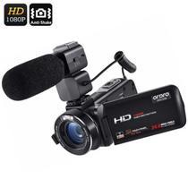 Filmadora Digital Ordro HDV-Z20 Wi-Fi Com Microfone Externo 16x Zoom 24MP Full-HD Selfie Detecção Rosto Controle Remoto Anti-vibração (BTO) -