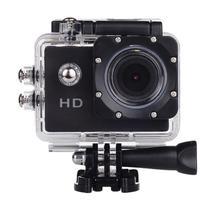 Filmadora HD 1080p Câmera Digital 5MP Esporte Capacete Mergulho Moto Amvox ADC 800 Preta Acessórios -