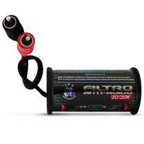 Filtro Anti Ruído Eletromagnético Stereo RCA 20/20K JFA Circuito Interno Blindado Elimina Ruídos -