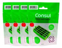 Filtro Bem Estar Anti Bactéria p/ Geladeira Consul Original Kit 4un -