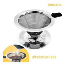 Filtro Coador Café Pour Over Inox - Não Precisa Filtro Tam P - Spcn