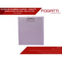 Filtro de Alumínio Metálico Lavável Para Coifas Fogatti -