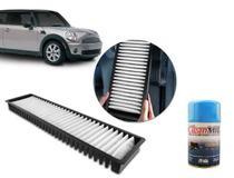 Filtro de Ar Condicionado Mini Cooper 1.6 06... One 07... Clubman 06... Contryman 10... Aromatizado + Spray Higienizador Mil -