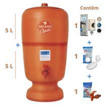 Filtro de Barro para Água São João Classic 5 Litros 1 Vela - Stéfani -