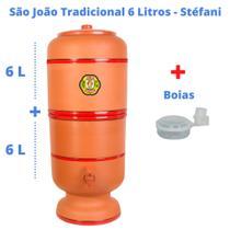 Filtro de Barro para Água São João Tradicional 6 Litros 1 Vela + Boia - Cerâmica Stéfani -