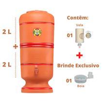 Filtro de Barro para água São Pedro 2 Litros com 1 Vela e 1 Boia - Center Art.