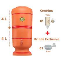 Filtro de Barro para água São Pedro 4 Litros com 1 Vela e 1 Boia - Center Art.
