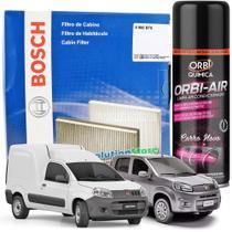 Filtro De Cabine Ar Condicionado Bosch Novo Uno Vivace Attractive Nova Fiorino + Spray Higienizador -