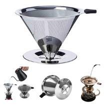 Filtro De Café Coador Inox Grande Reutilizável GB - Garota Bonita