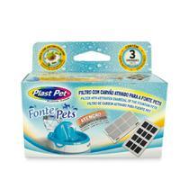 Filtro De Carvão Ativado Plast Pet Para Fontes -