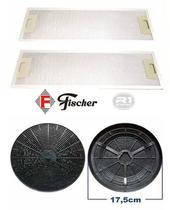 Filtro de Carvão Ativado + Tela Filtrante p/ Depurador Fischer Slim Original -