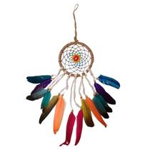 Filtro dos Sonhos de Barbante e Veludo Colorido 11,5cm - Balisun