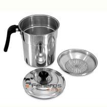 Filtro Para Óleo de Cozinha 0,9 Litros Alumínio Polido C/Orla - ASC