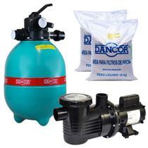 Filtro para Piscina DFR 12-14 Com Bomba 1/3 CV Monofásica C/ Areia  DANCOR -
