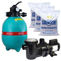 Filtro para Piscina DFR 15-7  com Bomba 1/2 CV Monofásica C/ Areia DANCOR -