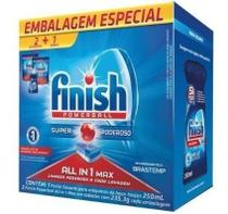 Finish 2 Detergentes Powerball + Secante Lava Louça Maquina -